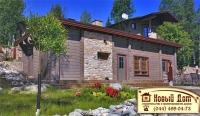Проект деревянного дома№004