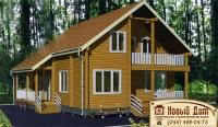 Проект деревянного дома№010