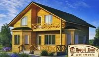 Проект деревянного дома№016