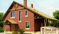 Проект кирпичного дома№016