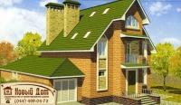Проект кирпичного дома№018