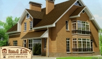 Проект кирпичного дома№022