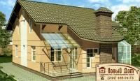 Проект кирпичного дома№025