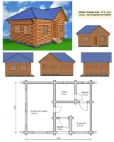 Проект бани №034