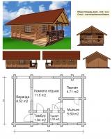 Проект бани №043