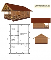 Проект бани №057