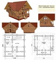 Проект деревянного дома№031