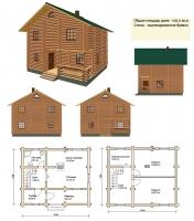 Проект деревянного дома№032