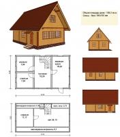 Проект деревянного дома№035