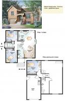 Проект деревянного дома№038