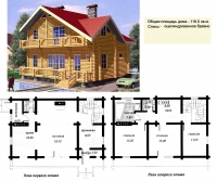 Проект деревянного дома№039