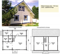 Проект деревянного дома№040