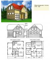 Проект деревянного дома№041