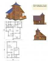 Проект деревянного дома№042