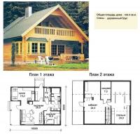 Проект деревянного дома№045