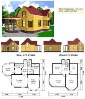 Проект деревянного дома№047