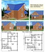 Проект деревянного дома№048