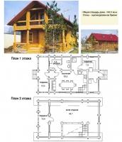 Проект деревянного дома№026