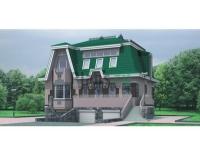 Проект кирпичного дома№050
