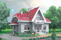 Проект кирпичного дома№052