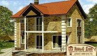 Проект кирпичного дома№001