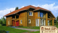 Проект деревянного дома№008