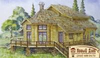 Проект деревянного дома№058