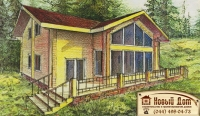 Проект деревянного дома№030