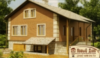 Проект кирпичного дома№015