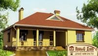 Проект кирпичного дома№021