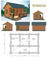Проект бани №019