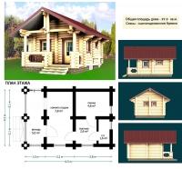 Проект бани №025