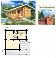 Проект бани №027