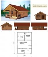 Проект бани №051