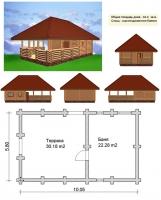 Проект бани №054