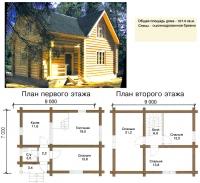 Проект деревянного дома№033