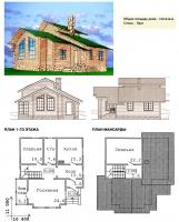 Проект деревянного дома№034
