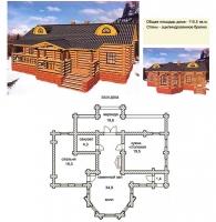Проект деревянного дома№036