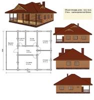 Проект деревянного дома№043