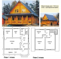 Проект деревянного дома№044