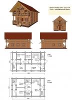 Проект деревянного дома№046
