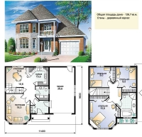 Проект деревянного дома№049