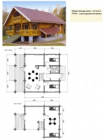 Проект деревянного дома№051