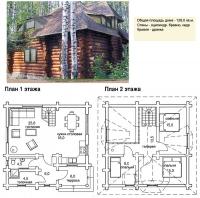 Проект деревянного дома№052