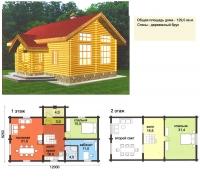 Проект деревянного дома№053
