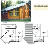 Проект деревянного дома№054