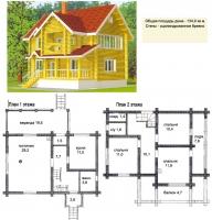 Проект деревянного дома№055
