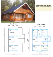 Проект деревянного дома№025