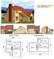Проект деревянного дома№027