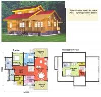 Проект деревянного дома№060